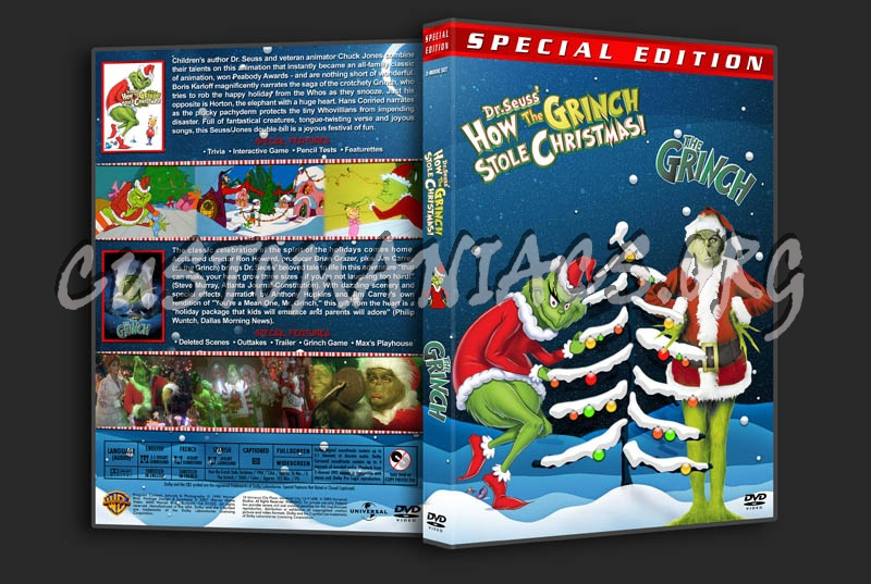 How the Grinch Stole Christmas / The Grinch Double Feature dvd cover