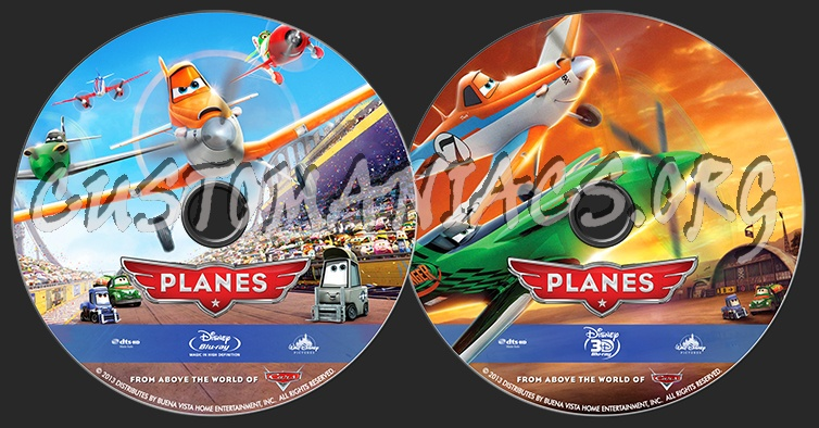 Planes  2D & 3D blu-ray label