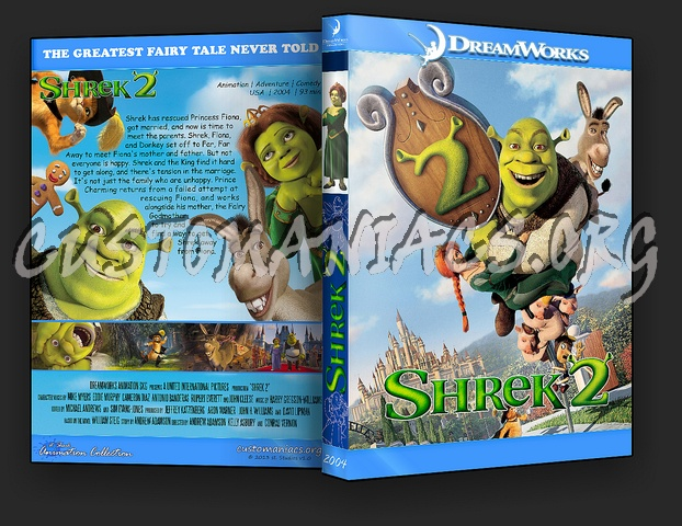 Shrek 2 - Animation Collection dvd cover