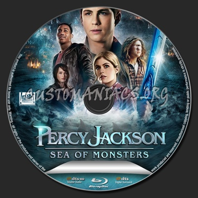 Percy Jackson: Sea of Monsters blu-ray label