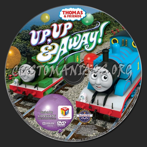 Thomas & Friends: Up, Up & Away! dvd label