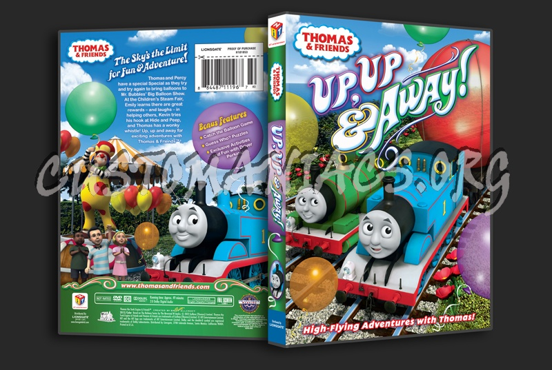 Thomas & Friends: Up, Up & Away! dvd cover