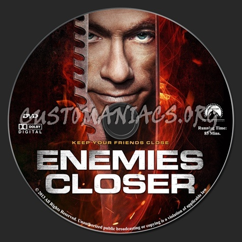 Enemies Closer dvd label
