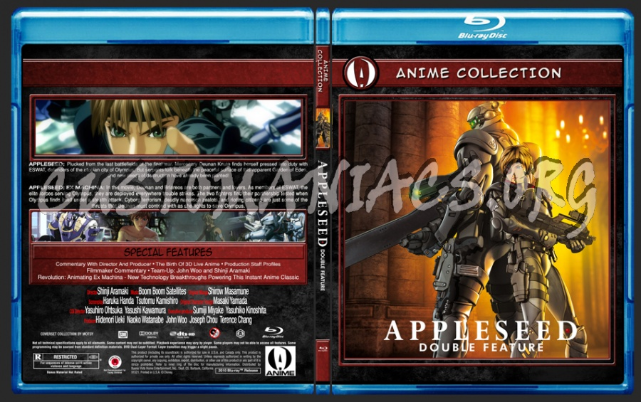 Anime Collection Appleseed Double Feature blu-ray cover