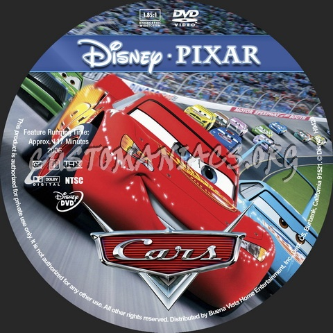Cars - Animation Collection dvd label