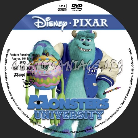 Monsters University - Animation Collection dvd label - DVD ...