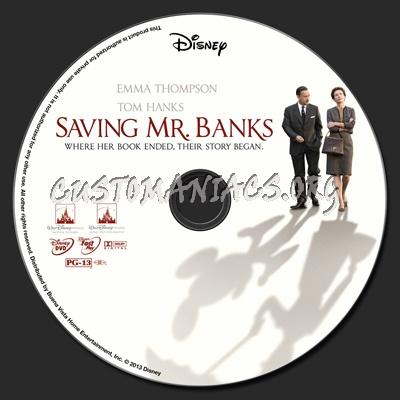 Saving Mr. Banks dvd label