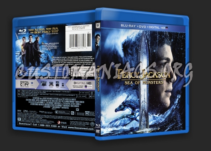 Percy Jackson Sea of Monsters blu-ray cover