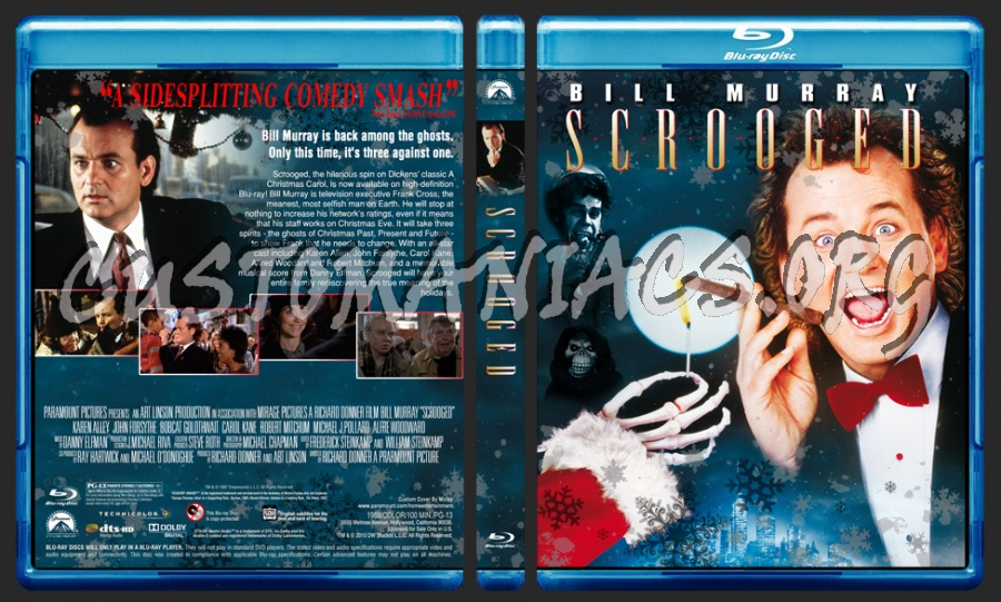 Scrooged blu-ray cover