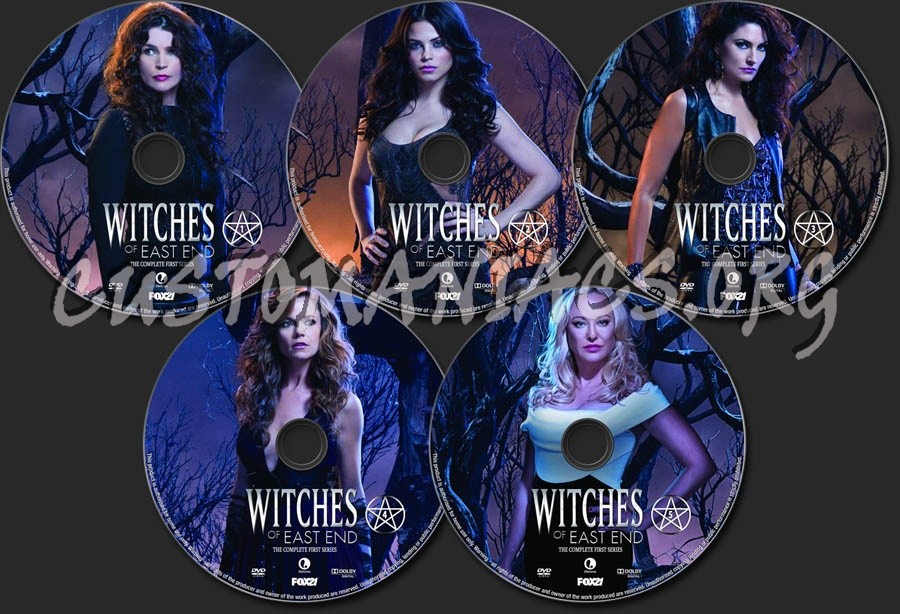 Witches Of East End Season 1 dvd label