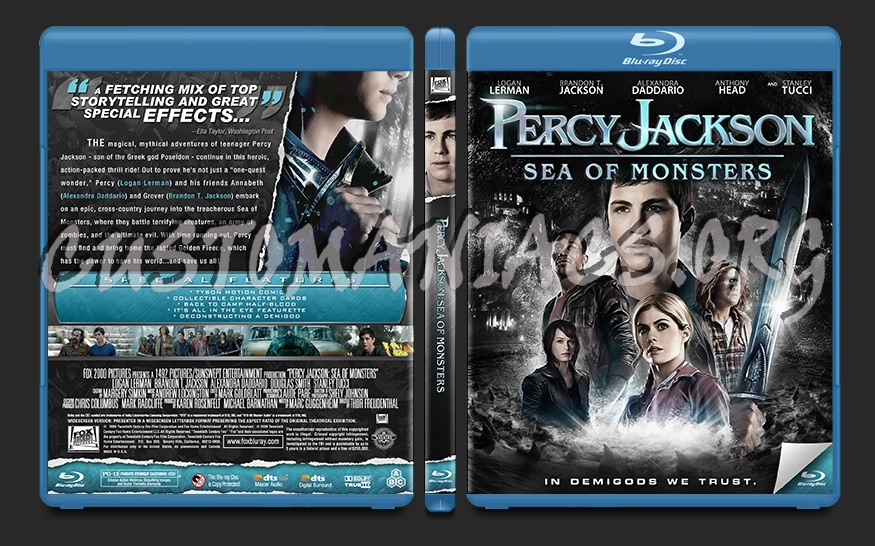 Percy Jackson: Sea of Monsters blu-ray cover