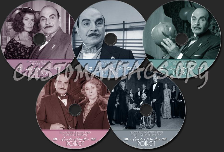 Agatha Christie's Poirot dvd label