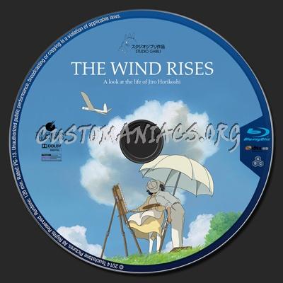 The Wind Rises blu-ray label