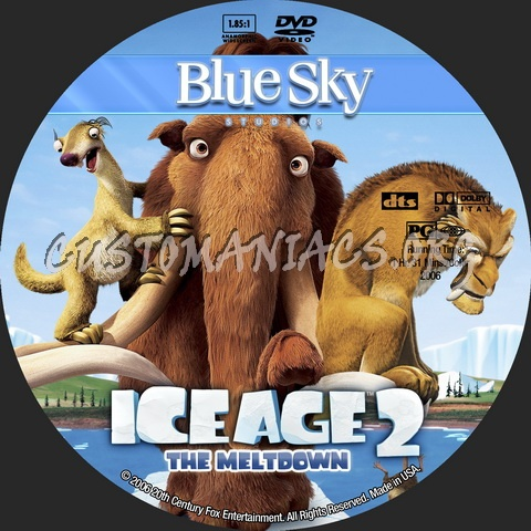 Ice Age 2: The Meltdown - Animation Collection dvd label
