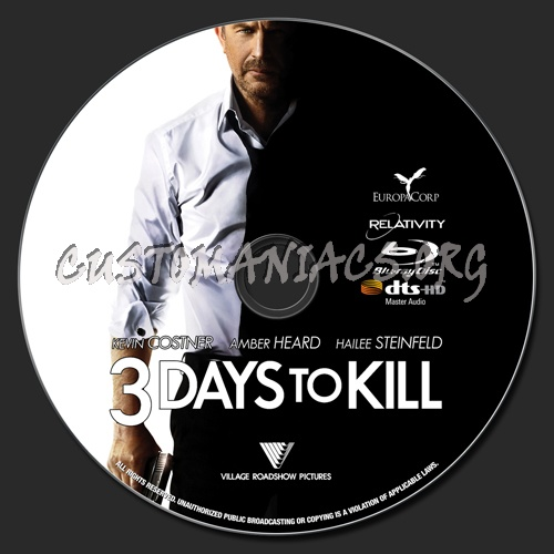 3 Days to Kill blu-ray label - DVD Covers & Labels by ...