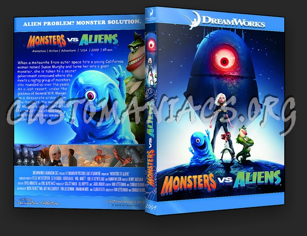 Monsters vs Aliens - Animation Collection dvd cover - DVD ...
