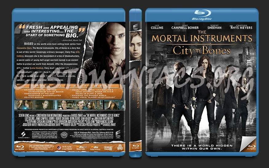 The Mortal Instruments: City of Bones blu-ray cover