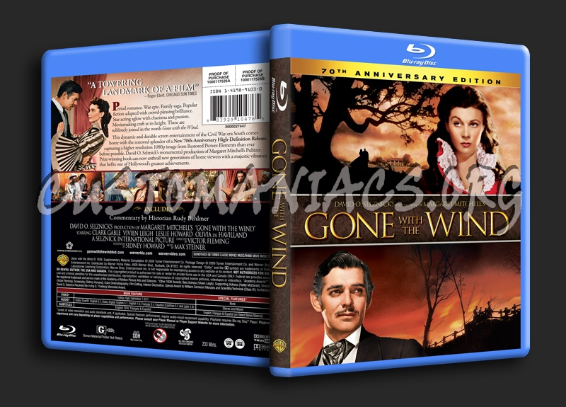 Gone With the Wind blu-ray cover