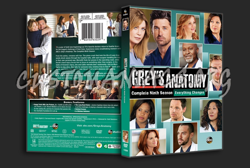 Greys Anatomy Season 9 Dvd Cover Dvd Covers Labels By