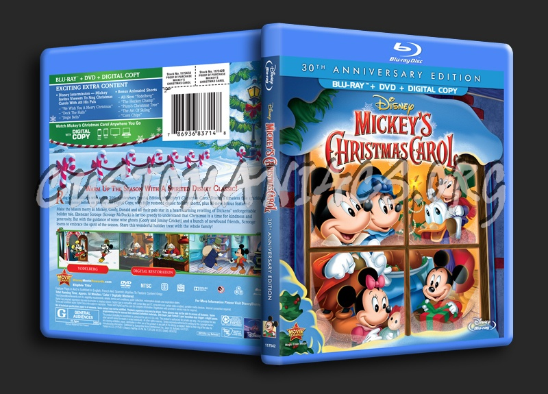 mickeys christmas carol blu ray cover - Mickeys Christmas Carol Blu Ray