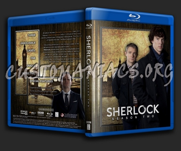 Sherlock - Season 2 blu-ray cover - DVD Covers & Labels by