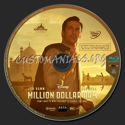 Million Dollar Arm blu-ray label