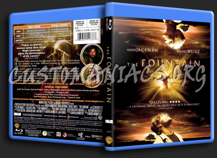 The Fountain blu-ray cover