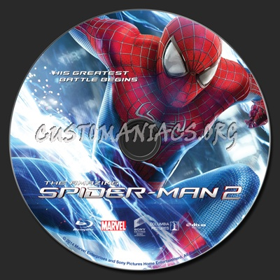 The Amazing Spider-Man 2 blu-ray label