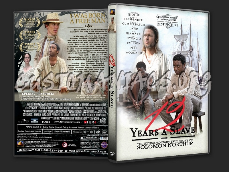 12 Years a Slave (2013) dvd cover