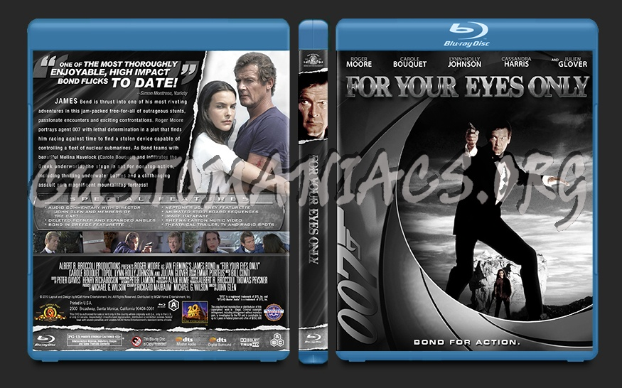 For Your Eyes Only blu-ray cover