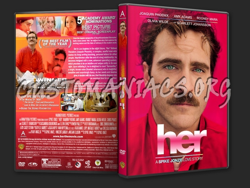 Her (2013) dvd cover - DVD Covers & Labels by Customaniacs ...