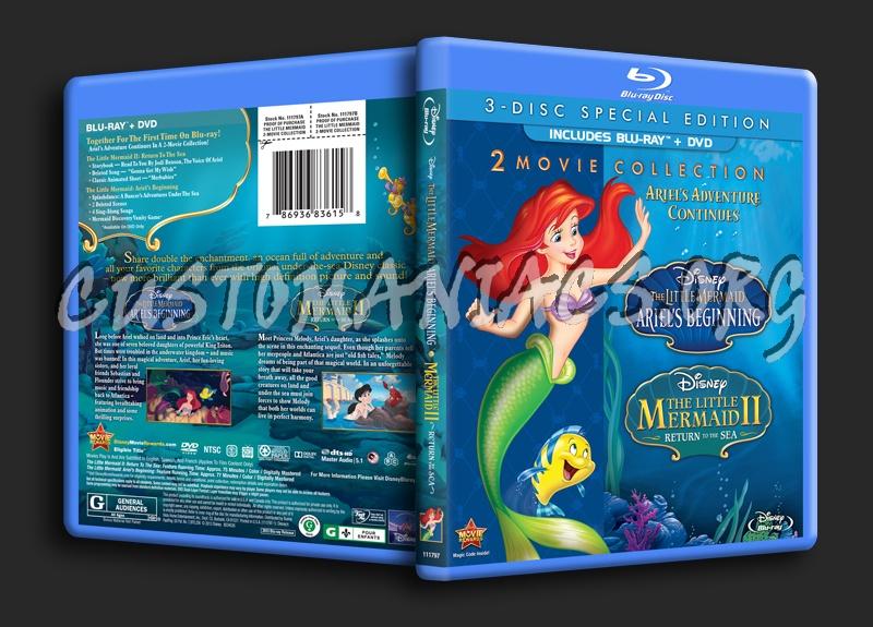 The Little Mermaid Ariel's Beginning & The Little Mermaid II Return to the Sea blu-ray cover