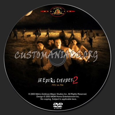 Jeepers Creepers 2 dvd label