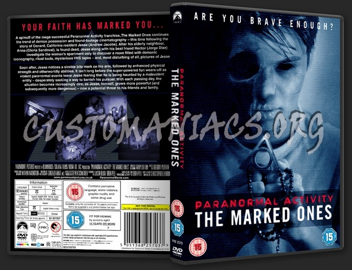 paranormal activity marked ones dvd cover - photo #13