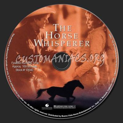 The Horse Whisperer dvd label