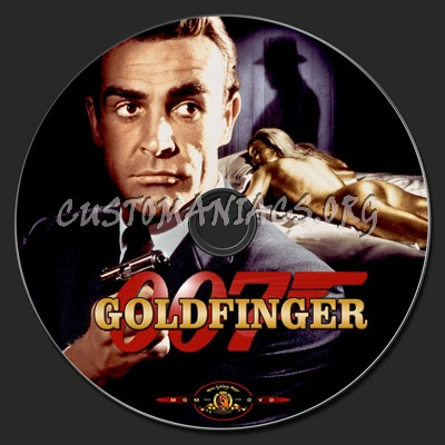 Goldfinger (James Bond) dvd label