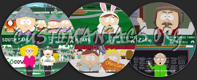 South Park - Season 16 dvd label