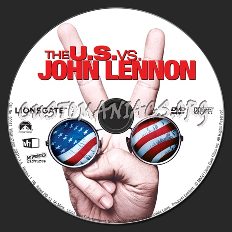 The U.S. vs. John Lennon dvd label