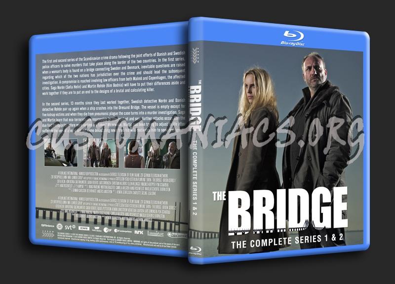 The Bridge Series 1 and 2 (Bron - Broen) blu-ray cover