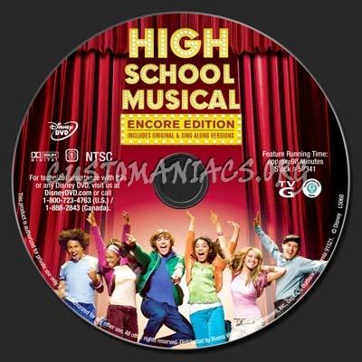 High School Musical dvd label