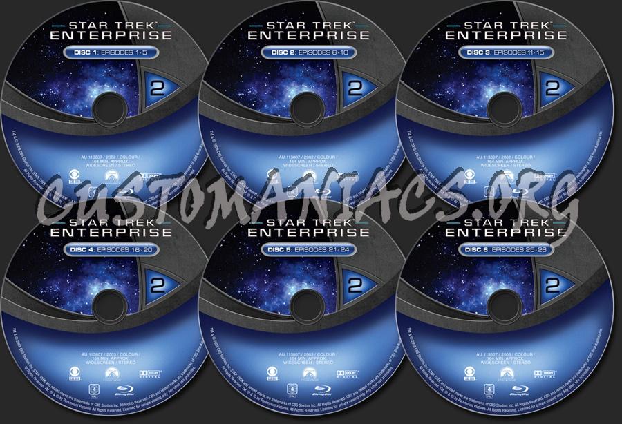 Star Trek Enterprise Season 2 blu-ray label