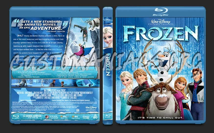 Frozen blu-ray cover