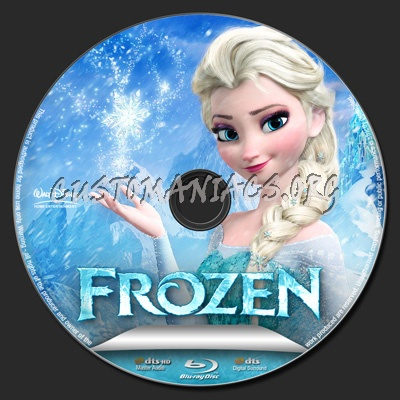 Frozen blu-ray label