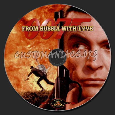From Russia With Love dvd label