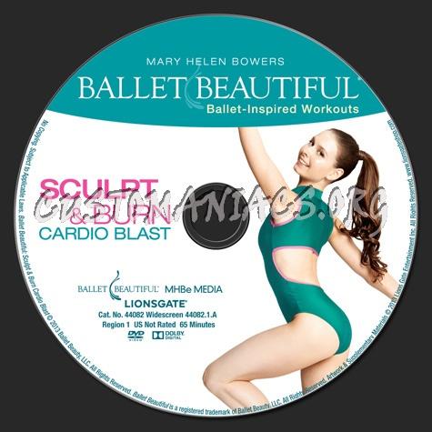 59e65dc86b Ballet Beatiful Sculpt   Burn Cardio Blast dvd label - DVD Covers ...