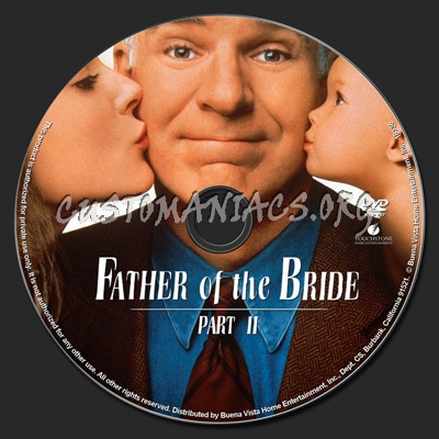 Father of the Bride- Part II dvd label