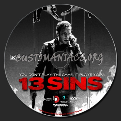 13 Sins dvd label