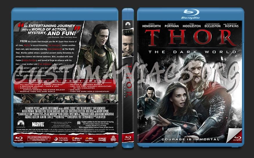 Thor the Dark World blu-ray cover