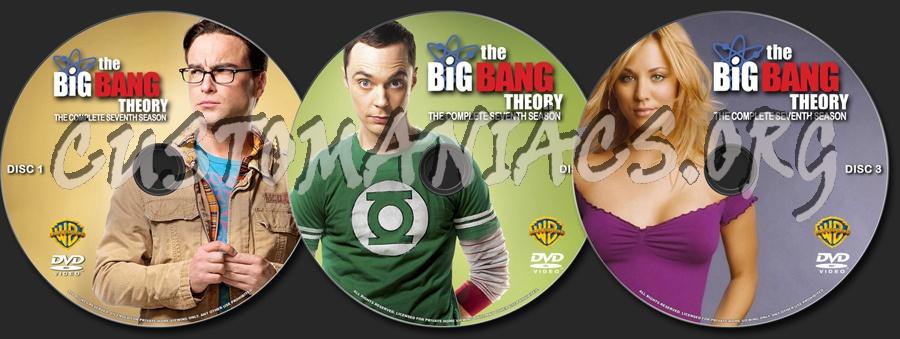 The Big Bang Theory Season 7 dvd label