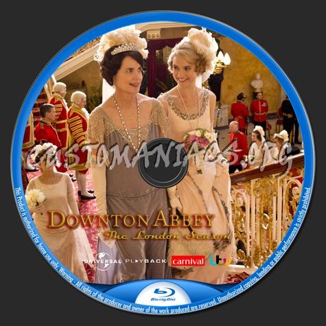 Downton Abbey - The London Season (Xmas 2013) blu-ray label